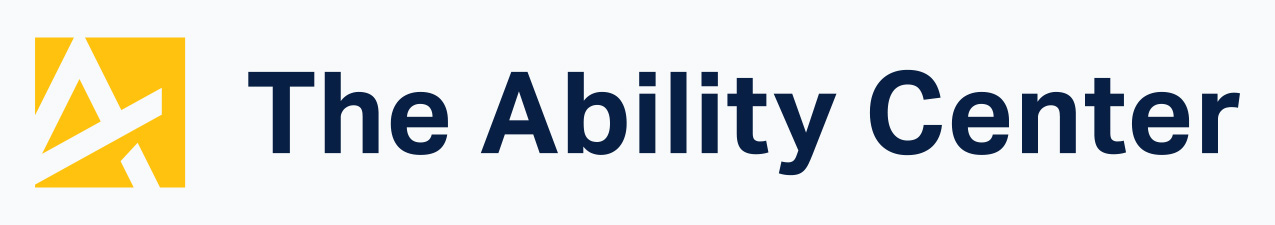 A stylized A and the words The Ability Center.